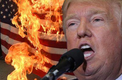 Liberals outraged about Trump's flag-burning tweet forgot Hillary said the same