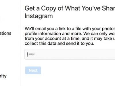 Instagram Releases New 'Data Download' Tool for Downloading Photos, Videos, Messages and More