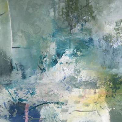 """Contemporary Abstract Art Painting,""""MAGICAL RELEASE"""" by Intuitive Artist Joan Fullerton"""