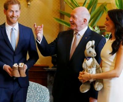 Prince Harry, Meghan Markle start Aussie tour with baby gifts