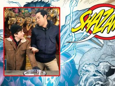 Watch Shazam Star Asher Angel Shout the Movie's Magic Word
