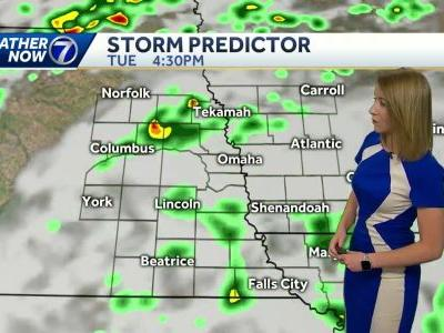 Mostly dry today, rain chances increase Tuesday