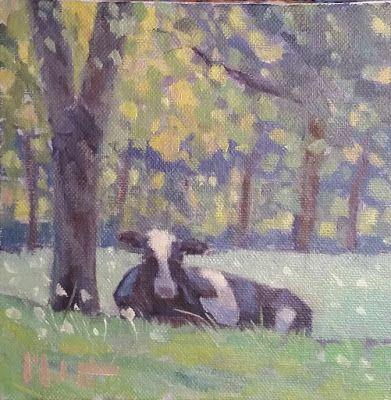 Cow Painting Original Art Heidi Malott