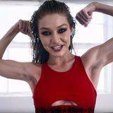 Gigi Hadid Flaunts Her Armpit Hair as a Boxing Badass For Love Magazine
