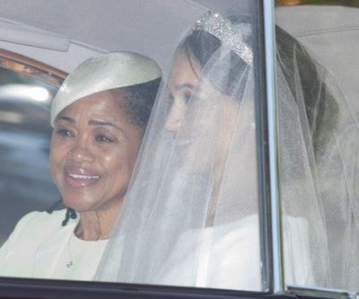 These Photos Of Meghan Markle's Wedding Dress Prove Her Tiara Stole The Show