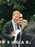 Meghan Markle Holds on to Prince Harry After Stumbling at Princess Diana's Niece's Wedding