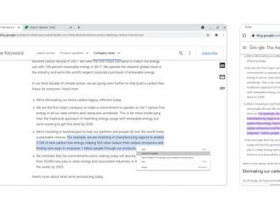 Chrome 90 will let users link directly to highlighted text in a web page