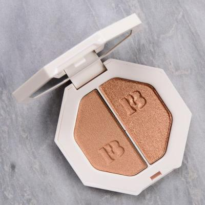 Fenty Beauty Afternoon Snack/Mo' Hunny Killawatt Freestyle Highlighter Duo Review & Swatches