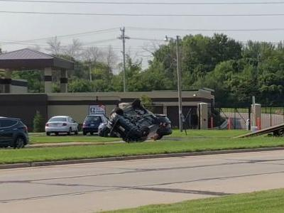 Scanner audio details chase that led to squad car rollover