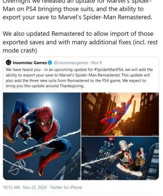 Spider-Man Remastered PS4-PS5 Save Transfer Is Now Available