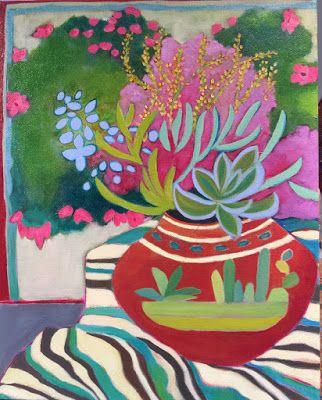 "Contemporary Still Life Art Painting ""Serenada"" by Santa Fe Artist Annie O'Brien Gonzales"
