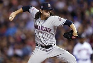 Rangers get RHPs Gearrin, Bahr and OF Jackson from Giants