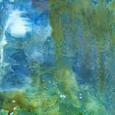 "Abstract Expressionist Alcohol Ink Abstract Art Painting ""THE WATERS: REFLECTIONS"" by New Orleans Artist Lou Jordan"