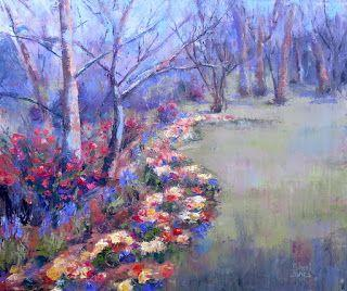Spring Show, Contemporary Landscape Painting by Sheri Jones