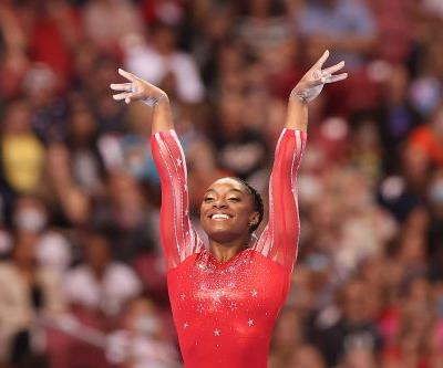 Say Hello to Simone Biles's New Personal Twitter Emoji: A Gold-Medal Goat Doing the Splits