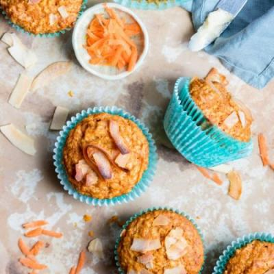 Carrot, Coconut, & Orange Muffins