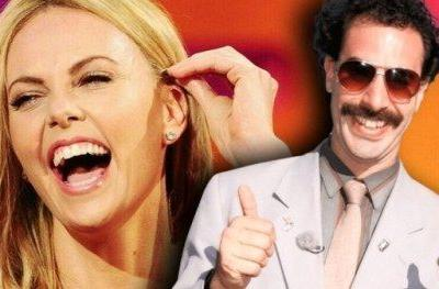Borat Landed Charlize Theron in the Hospital from Laughing Too