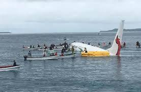 One passenger missing after Pacific lagoon plane crash, safe evacuation