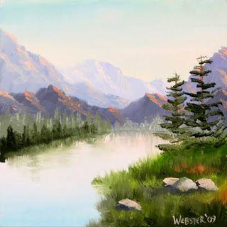 Mark Webster - Mountain River Overture Landscape Oil Painting