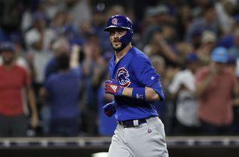 Cubs' Bryant hurt, pulled after trying to beat double play