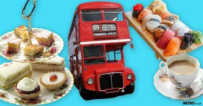 There's a sushi and gin afternoon tea bus tour and it sounds very fancy