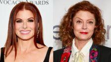 Debra Messing Would Ride An Elevator With Trump Over Susan Sarandon
