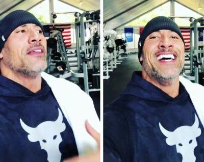 The Rock's Traveling Gym Has 40,000 Pounds of Workout Equipment