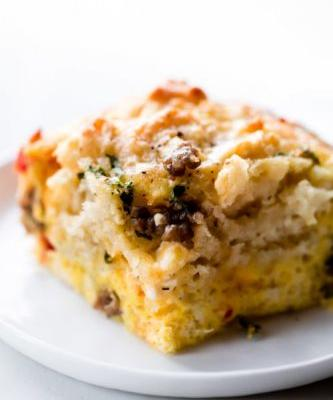 Biscuit Breakfast Casserole