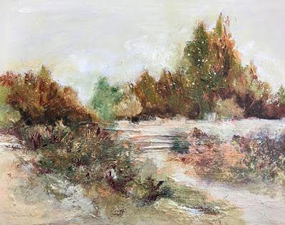 """Contemporary Landscape Painting,Fine Art For Sale,Textured Art, Mixed Media, """"Real and Imagined"""" by Contemporary Artist Liz Thoresen"""