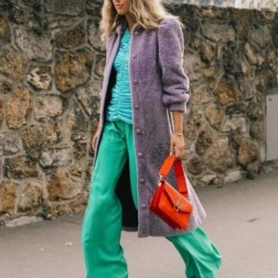 These Green-Shirt Outfits Are Sure to Stand Out This Winter