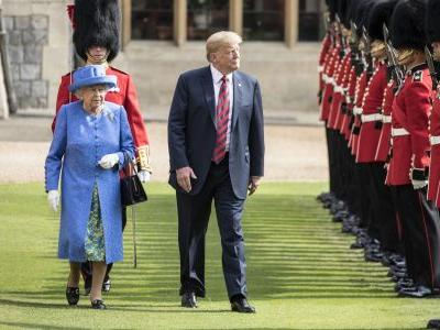 Queen Elizabeth II and Trump Awkwardly Walk Around Windsor Castle, and . . . Well, Just Watch