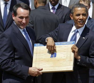 Obama released his March Madness brackets and Final Four picks