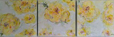 Contemporary Abstract Expressionist Floral Painting