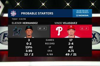 Elieser Hernández aims to lead Marlins to series win over Phillies