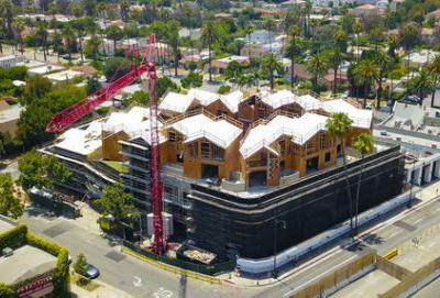 MAD's First US Project 'Gardenhouse' Tops Out in Beverley Hills