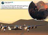 Virgin Galactic reaches the edge of SPACE for the first time in milestone test