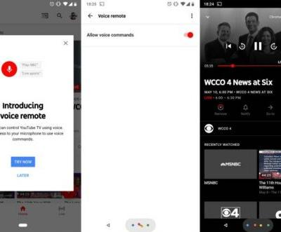 Google Begins Pushing Voice Remote Feature To YouTube TV