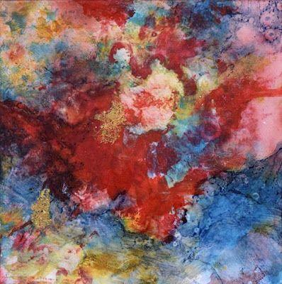 """Abstract Art, Astronomy, Acrylic Painting, Contemporary Art For Sale, """"Galaxy Within"""" by Santa Fe Contemporary Artist Sandra Duran Wilson"""