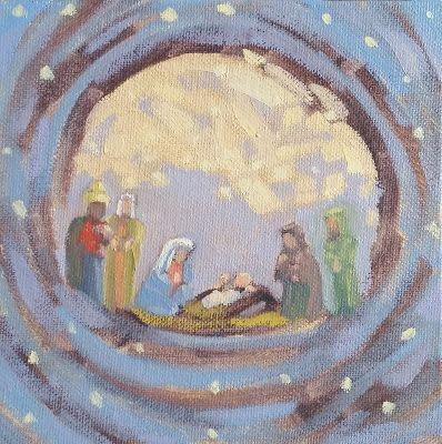 Nativity Scene Holy Family Art and Prints and Cards