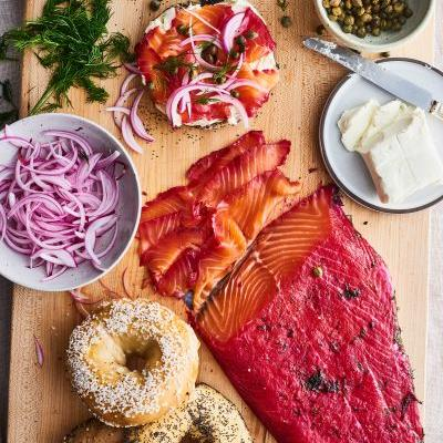 Your Brunch Spread Needs This Beautiful Beet-Cured Salmon
