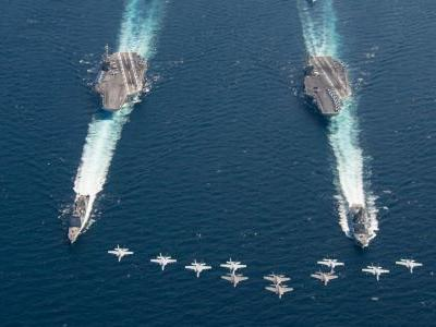 The US Navy just sent Russia and China powerful messages with aircraft carrier shows of force
