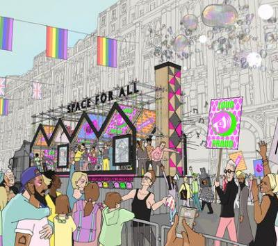 "Hawkins\Brown's London Pride Float Celebrates the ""Dual Identities"" of LGBT+ Architects"