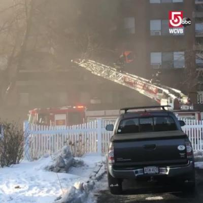 Residents rescued down ladders in senior housing fire