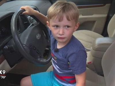 4-year-old boy drives family SUV during morning rush hour to get candy