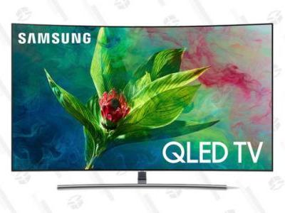 """Save Hundreds On Samsung's 55"""" and 65"""" Curved QLED TVs, Right Now"""