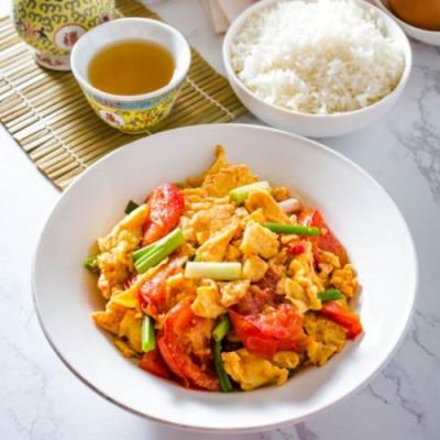 Chinese Egg and Tomato Stir-Fry