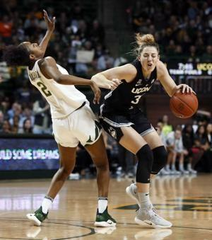 No. 1 UConn's 126-game win streak ends 68-57 at No. 8 Baylor