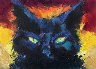 AUCTION ENDING SOON, BLACK CAT by TOM BROWN