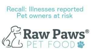 Dog food recalled for Salmonella; two children confirmed sick