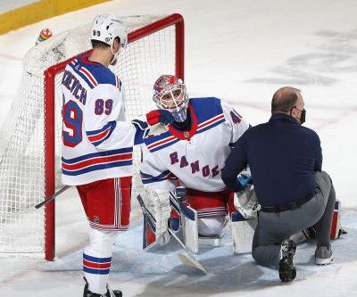 Rangers had to put Alexandar Georgiev's knee 'back into place' after scary moment